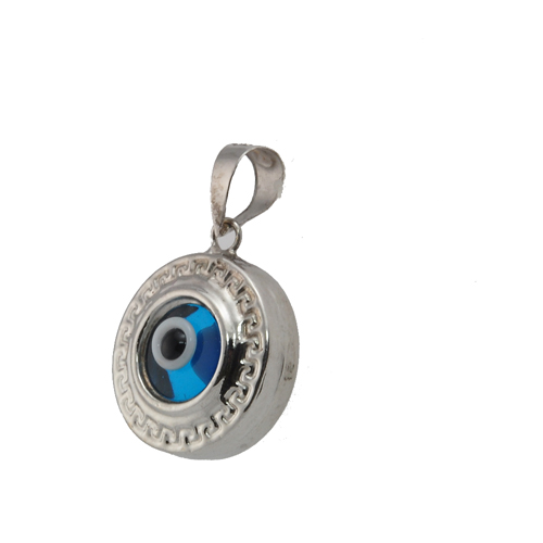 14k white gold evil eye pendant aloadofball Image collections