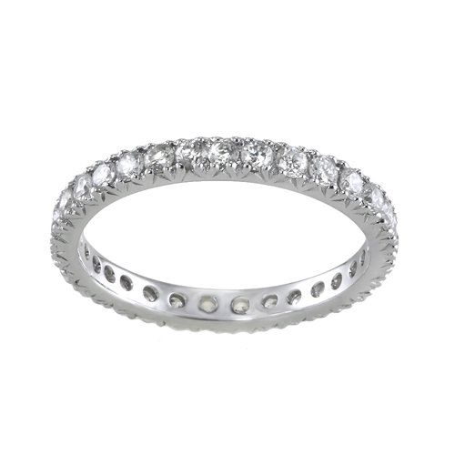 14k white gold eternity ring 0 91 ctw