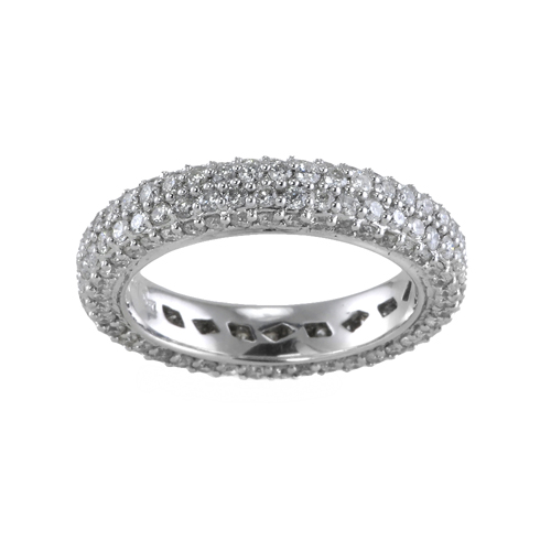 14k white gold eternity ring 2 00 ctw