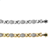 14K  Yellow Gold X0 Diamond Bracelet 0.30Ctw