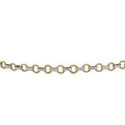 14K Yellow And White Gold Diamond Bracelet.