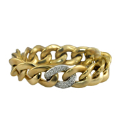 14K Two Tone Diamond Ladies' Bracelet,0.63 Ctw