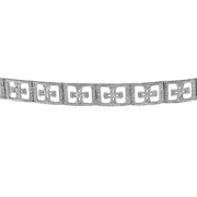 14K White Gold Diamond Bracelet.