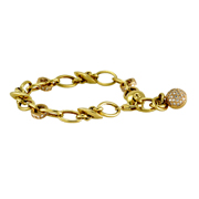 18K Yellow and Pink Gold Ladies' diamond bracelet.  0.85 Ctw.