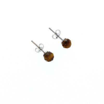 Silver and Onyx Earring