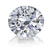 GIA-CERTIFIED 0.97 CARATS ROUND BRILLIANT  CUT SI1-F COLOR DIAMOND