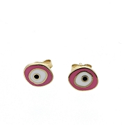 Evil Eye, Silver & Enamel Evil Eye Earring