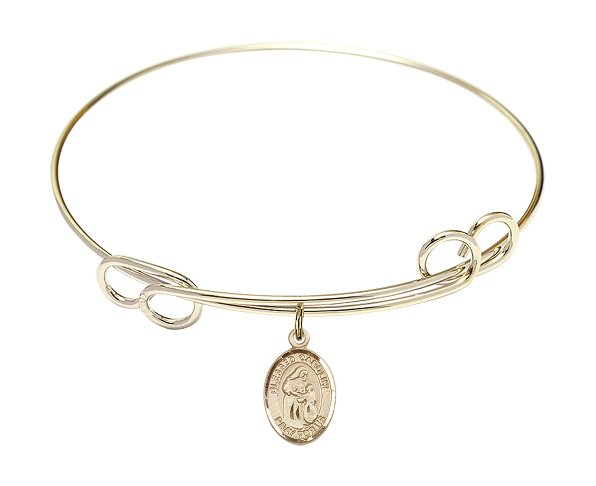 Felicity Charm. DiamondJewelryNY Eye Hook Bangle Bracelet with a St