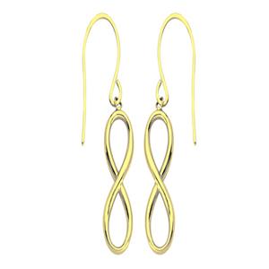 Dangle Earring, Dangle Infinty Earrings With Euro Wire