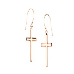 Dangle Earring, E/R Dandle Cross Earrings With Euro Wire