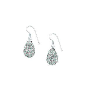 Dangle Earring, Ss Crystal Tear Drop Earrings / White Re