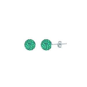 Ball Earring,1540E-8Mm-Blue Zircon-60230