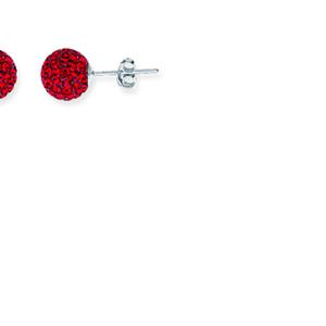 Ball Earring,1540E-8Mm-Siam-90090