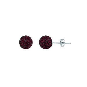 Ball Earring,1540E-8Mm-Garnet-90120