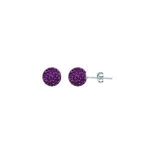 Ball Earring,1540E-8Mm-Amethyst-20050