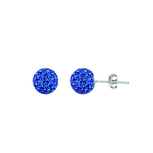 Ball Earring,1540E-8Mm-Sapphire-30050