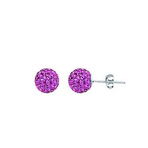 Ball Earring,1540E-8Mm-Rose-70010