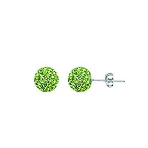 Ball Earring,1540E-8Mm-Peridot-50520