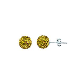 Ball Earring,1540E-8Mm-Light Colorado Topaz-10330