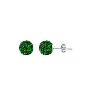 Ball Earring,1540E-8Mm-Emerald-50730