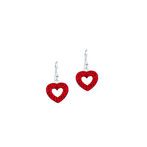 Dangle Earring, Ss Crystal Dangle Heart Earrings