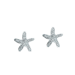 Ball Earring, Ss Crystal Star Fish Earrings