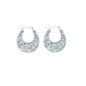 Hoop Earrings, Ss Crystal Creole Hoop Earrings