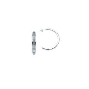 Hoop Earrings, Crystal Half-Hoop Earring
