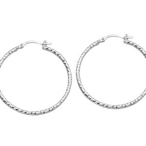 Hoop Earrings, 2*40Mm Full D/C Hoop Earring