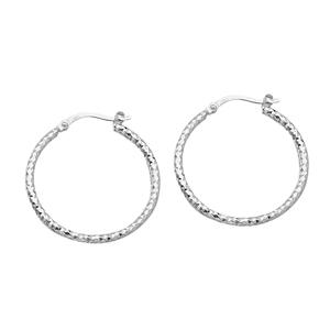 Hoop Earrings, 2*30Mm Full D/C Hoop Earring