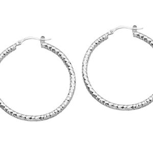 Hoop Earrings, 3*40Mm Full D/C Hoop Earring