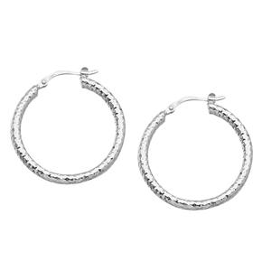 Hoop Earrings, 3*30Mm Full D/C Hoop Earring