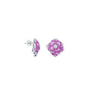 Hoop Earrings, Rose Crystal Earrings