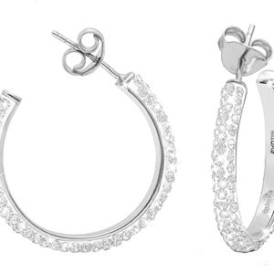 Hoop Earrings, Med. Hoop Ear/Clear