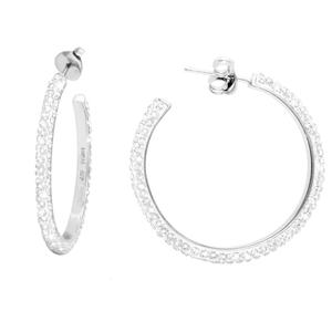 Hoop Earrings, Lrg Hoop Ear/Clear