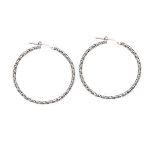Hoop Earrings, Ss Rhod Dc Hoop Earrings