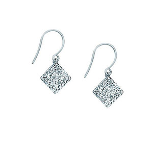 Hoop Earrings, Ss Crystal Diamond Drop Earring