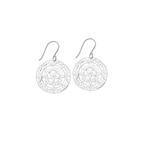 Dangle Earring, Ss Round Design Dangle Earring