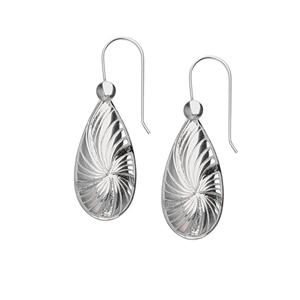 Dangle Earring, Ss Oval Design Drop Earring