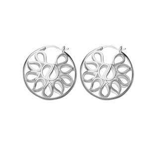 Dangle Earring, Ss Round Hoop Design Earring