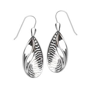Dangle Earring, Ss Split Design Texture Earring