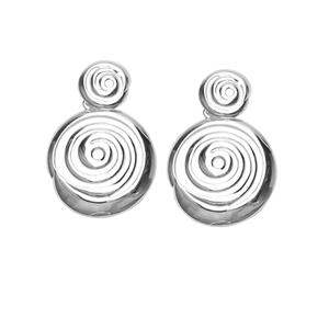 Dangle Earring, Ss Swirl Earring