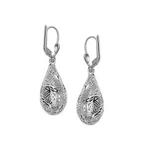 Hoop Earrings, Ss Dc Oval Dome Leverback Earring