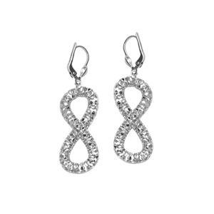 Hoop Earrings, Ss Dc Twist Leverback Earring