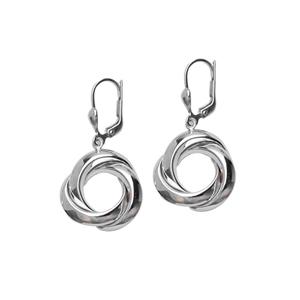 Dangle Earring, Ss 3 Ring Leverback Earring