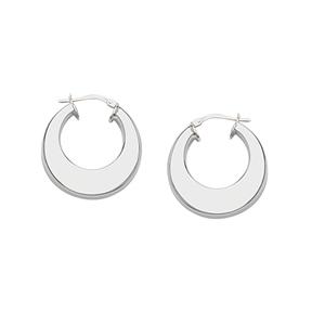 Hoop Earrings, Ss Round Hoop Earring