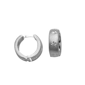 Hoop Earrings, Huggies /Satin /Dc