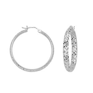 Hoop Earrings, 3 X 30 Dc Inside/Out Hoop Ear