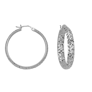 Hoop Earrings, 4 X 30 Dc Inside/Out Hoop Ear