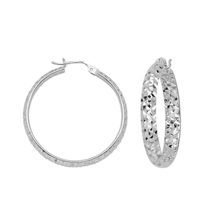 Hoop Earrings, 4 X 40 Dc Inside/Out Hoop Ear